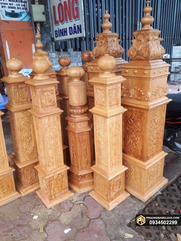 tay vin cầu thang bằng gỗ