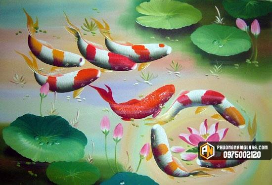 tranh kính cá chép