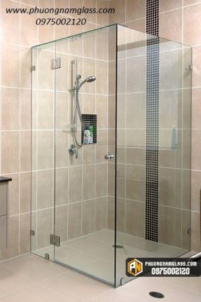 Mẫu Phòng tắm kính 90 độ